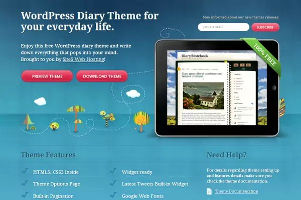 wp diarytheme