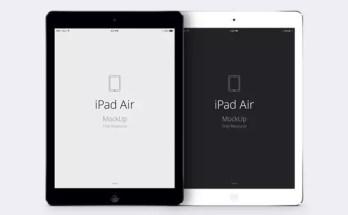 Free iPad Air Psd Vector Mockup