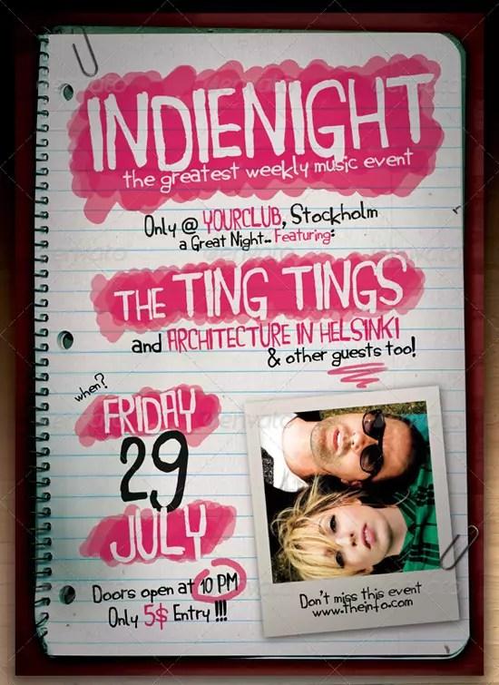 Indie Flyer Poster Vol 6