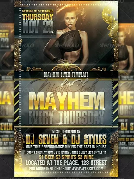 Mayhem Flyer Template