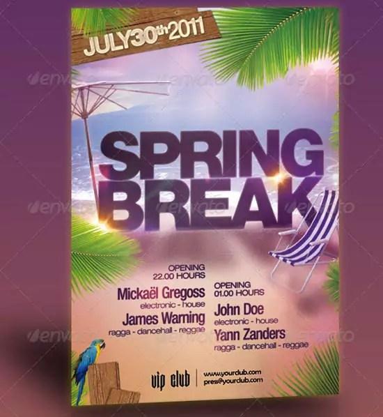 Spring break Party Flyer Template