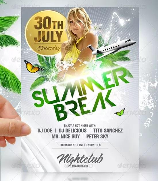 Summer Break Party Flyer