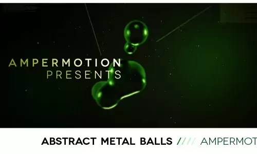abstract metal balls