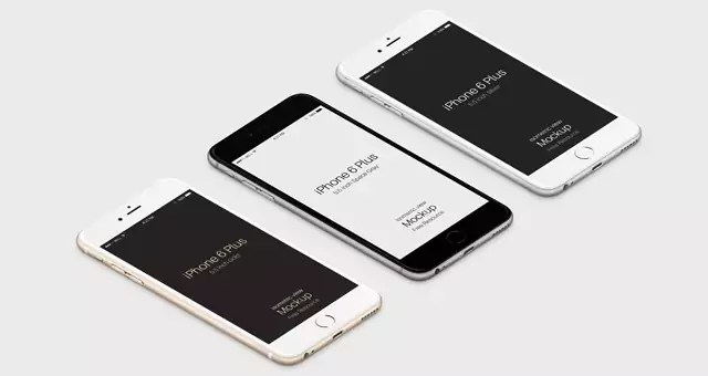Free 3D iPhone 6 Plus Psd Vector Mockup