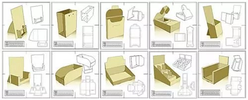 free blank cardboard boxes packaging design templates