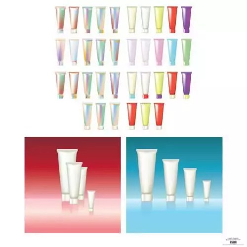 free blank cosmetic tube packaging design templates