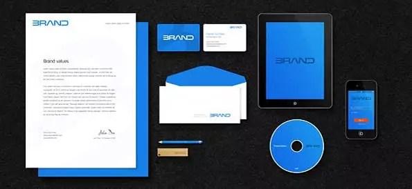 corporate identity branding PSD 3D mockup template