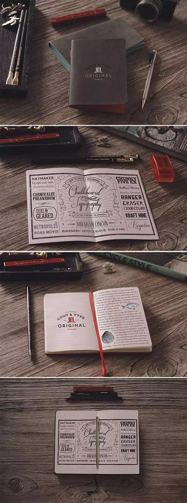 notebook PSD 3D mockup template