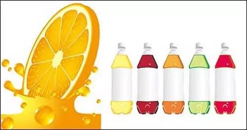 free blank plastic orange juice bottles packaging design templates