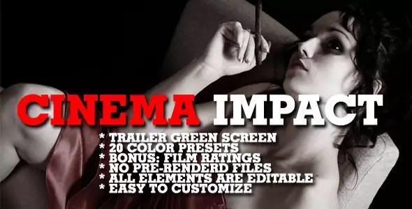 Cinema impact - Color presets