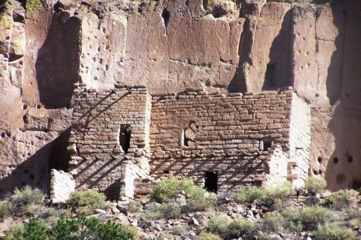 Cliff Dwellings Near Santa Fe New Mexico