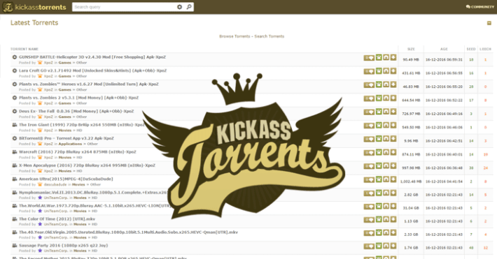 kickass torrents - limetorrents alternative