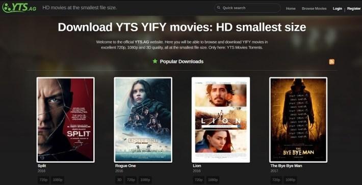 YTS - limetorrents alternative