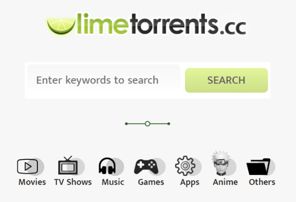 limetorrents categories