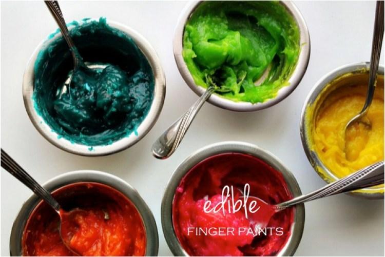 """""""DIY edible finger paints"""""""