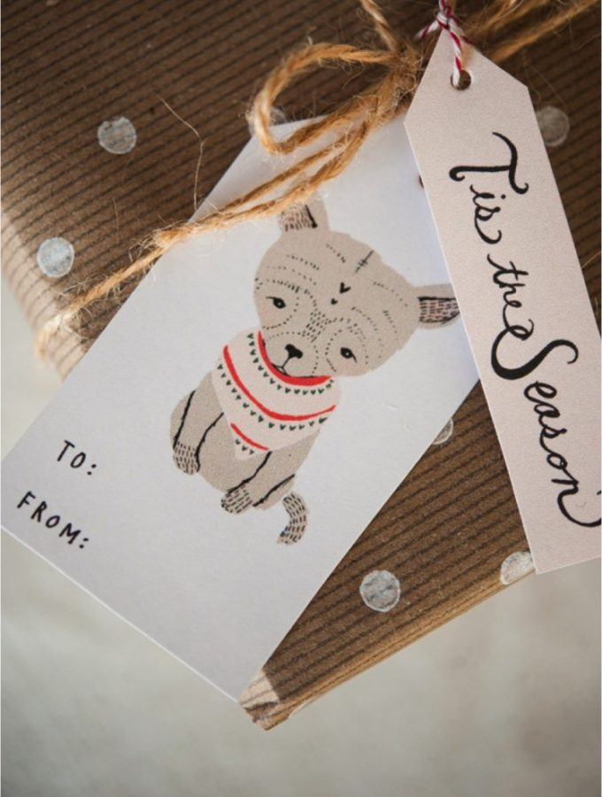 My favourite free {printable} Christmas gift tags…