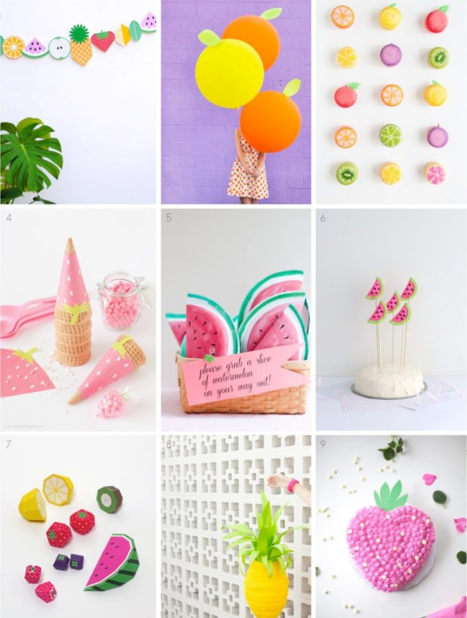 9 fabulous fruit themed summer party ideas