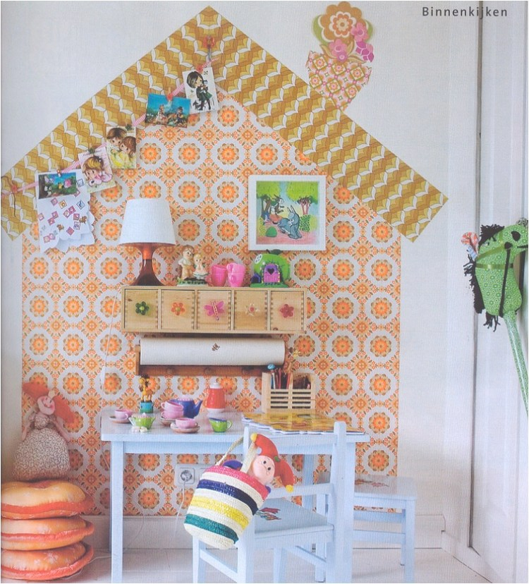 """DIY kids room decor ideas with wallpaper"""