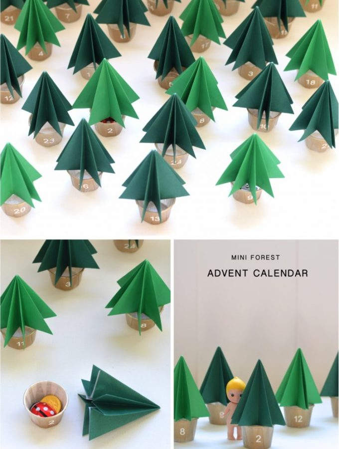 DIY Mini Forest Advent Calendar
