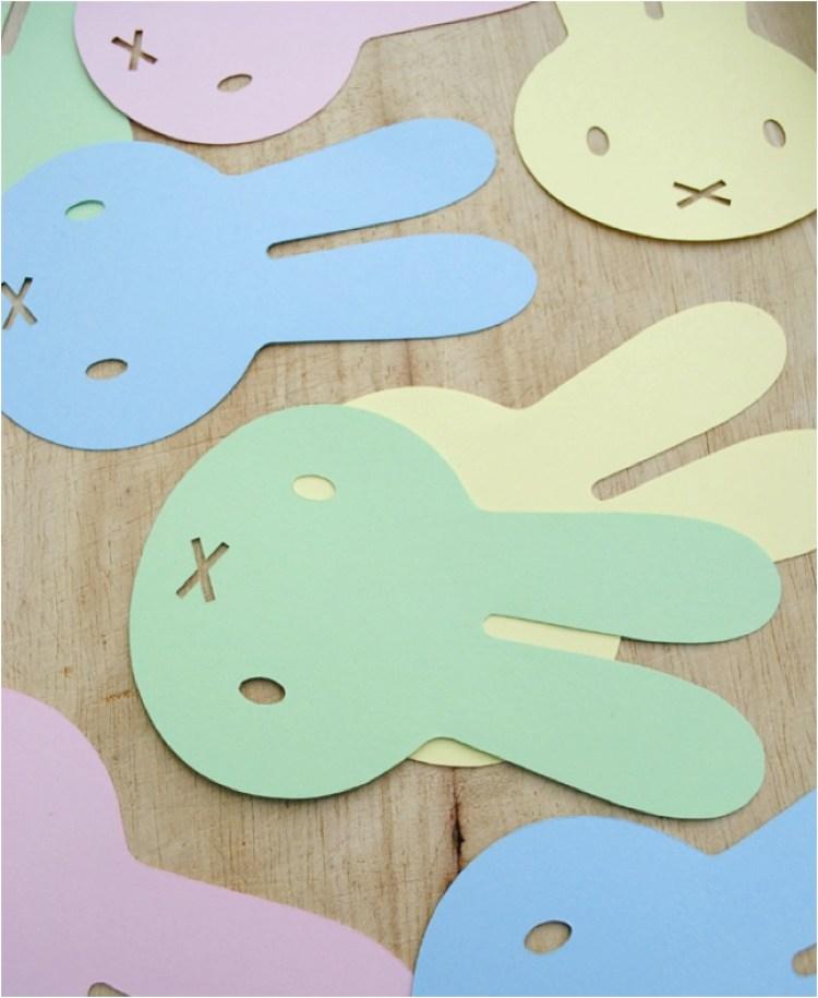 DIY miffy bunny bunting