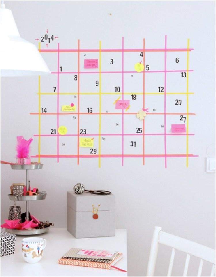 DIY washi tape calendar