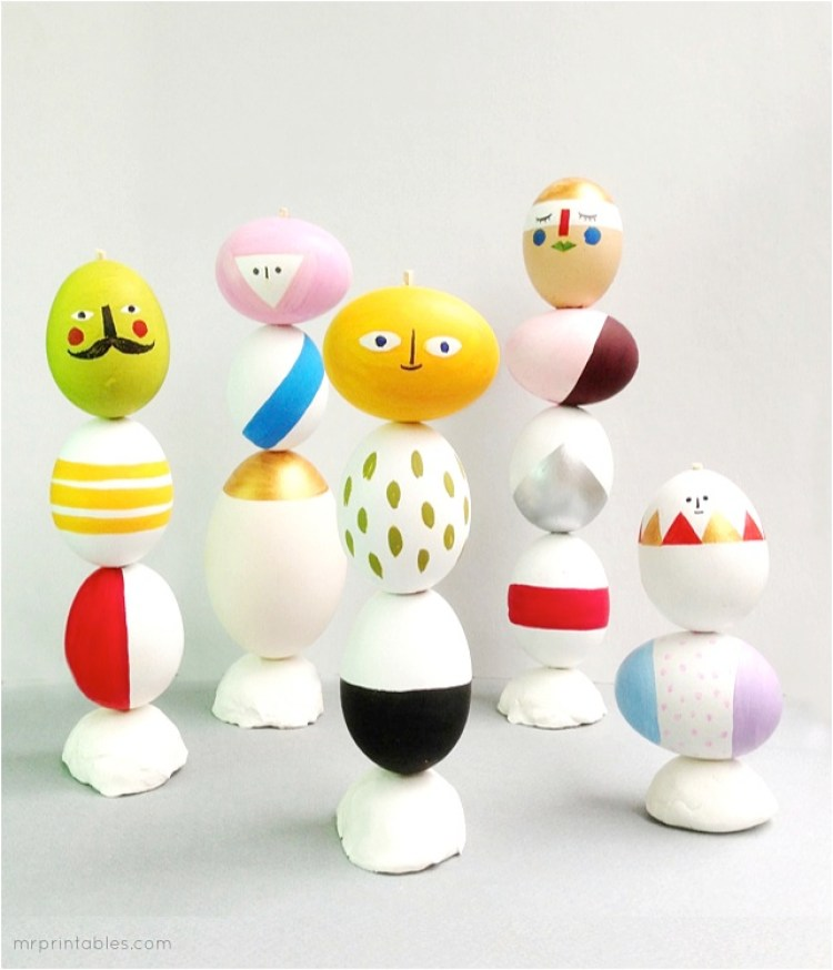 colourful easter egg decorating ideas