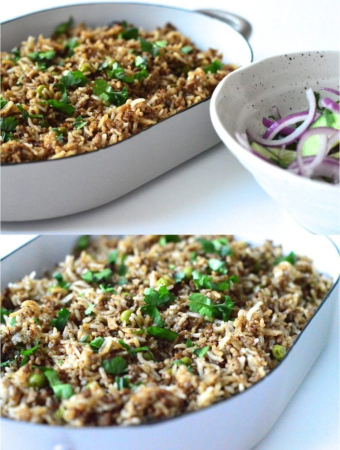 Spiced Lebanese rice with mince lamb