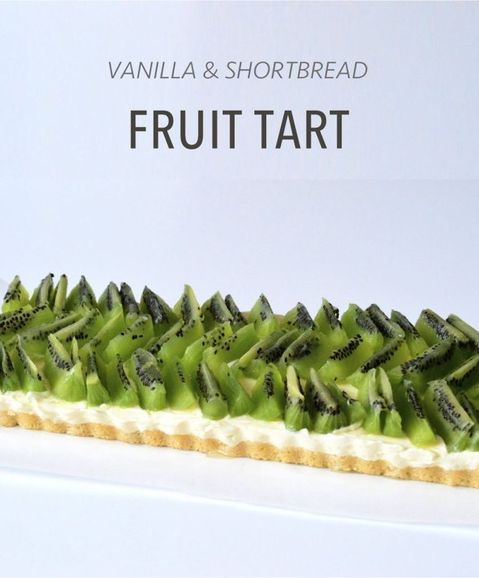 Easy and delicious no bake vanilla fruit tart