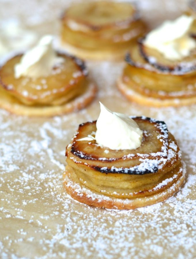 Mini and moreish apple pie stacks