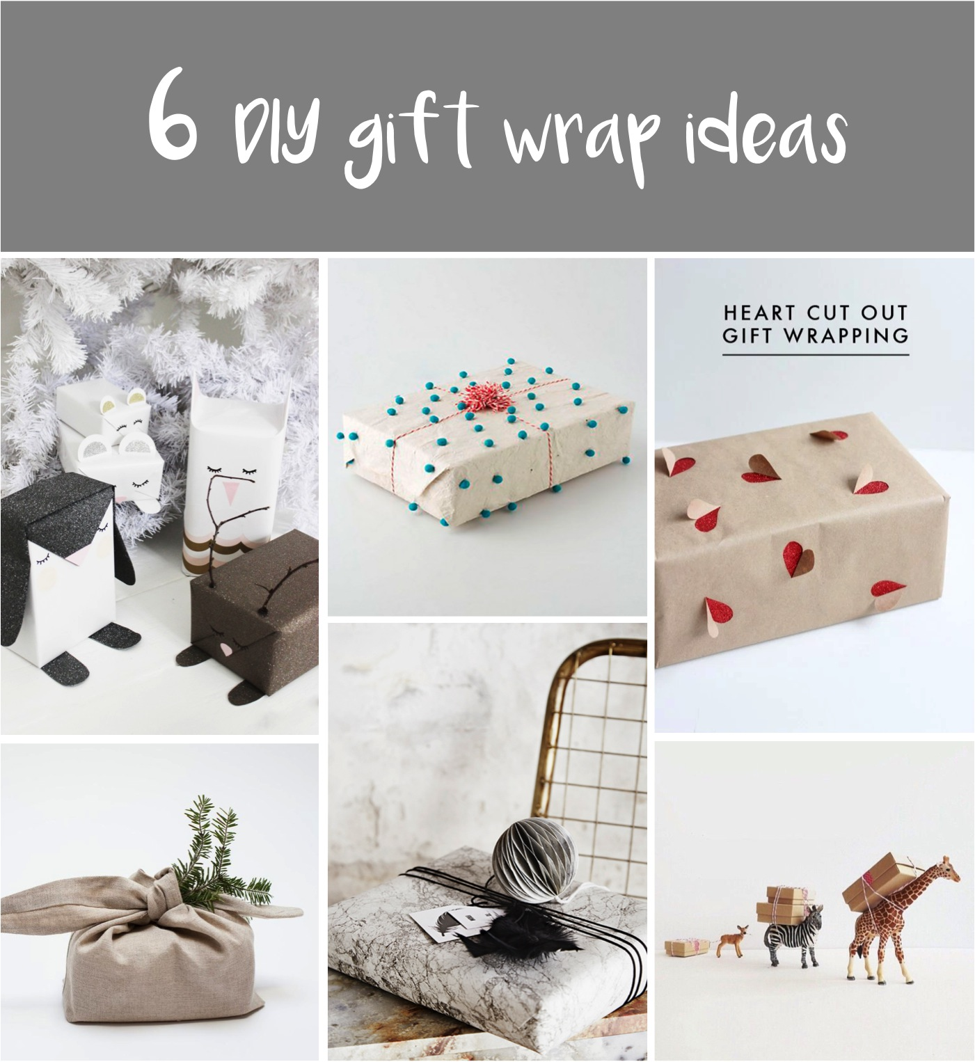 12 Home Decor Gift Ideas From Walmart: Its A Wrap: 6 Fun Ways To Wrap Your Christmas Gifts