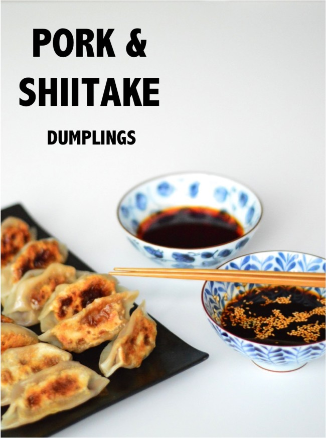 Yum! Pork and shiitake dumplings