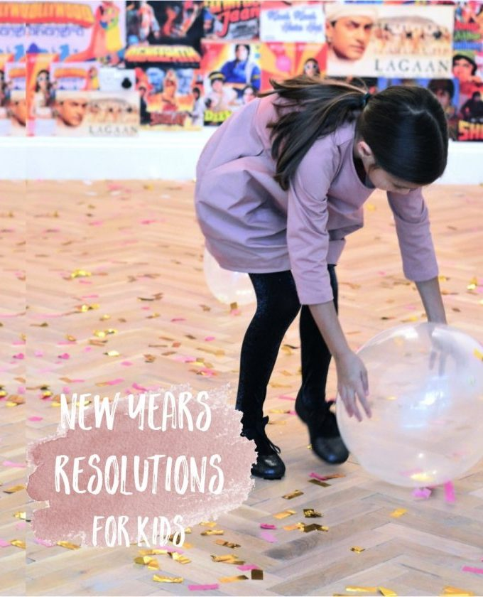 New years resolution ideas for kids (with free printable)