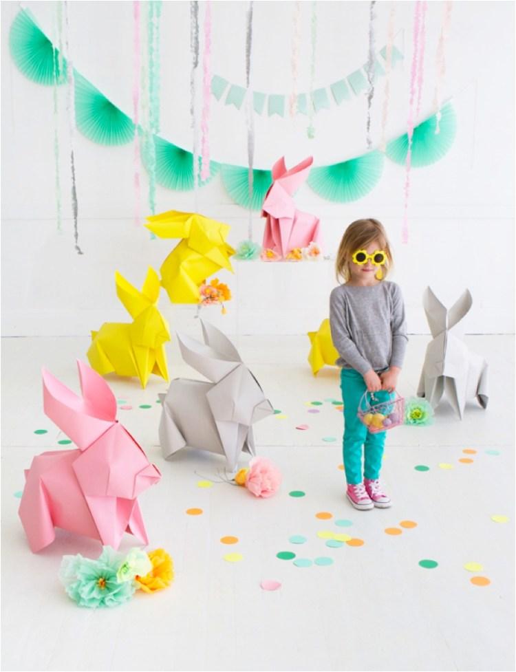 DIY origami bunny rabbits