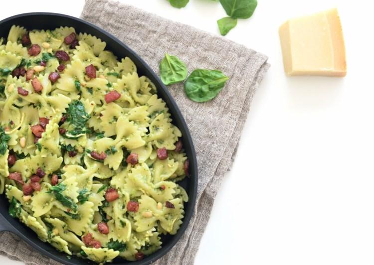 easy pasta with pesto recipe