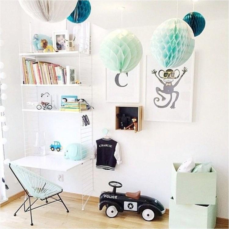 kids desk ideas with shelves