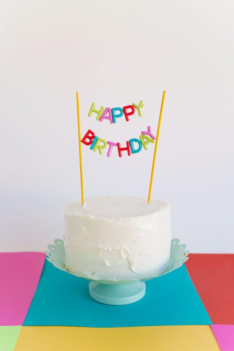 easy birthday cake decorations