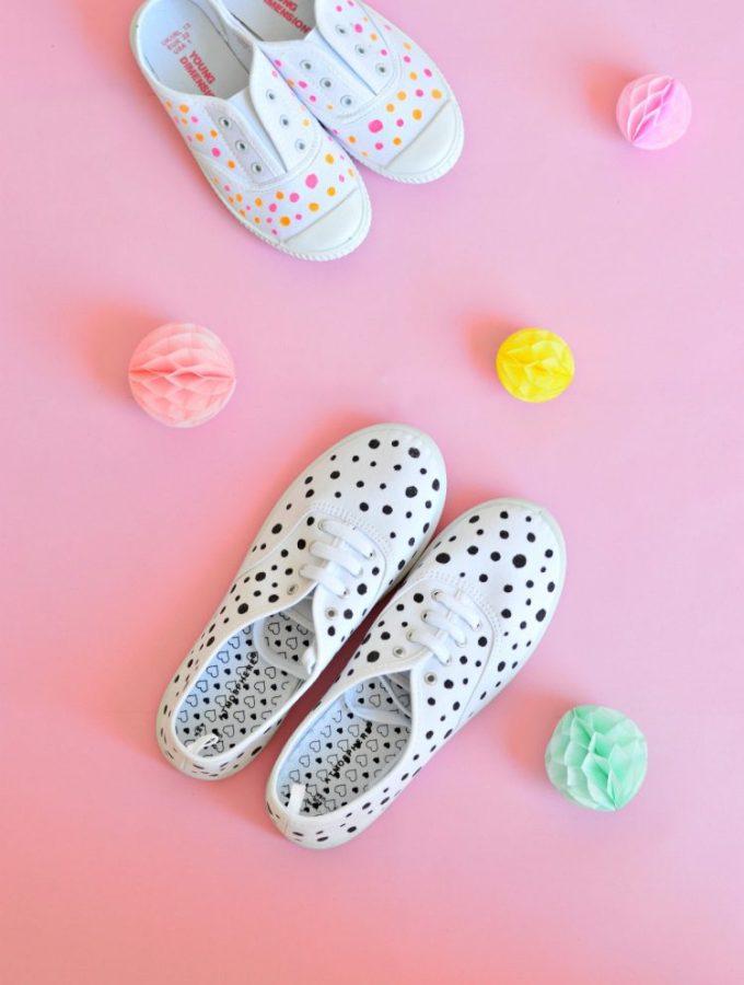 10 minute DIY: Paint your canvas shoes