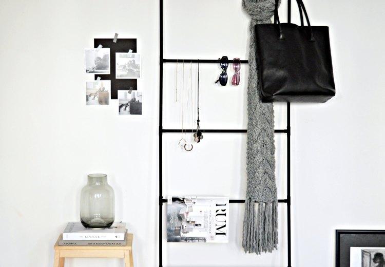 DIY accessory organiser for bedroom