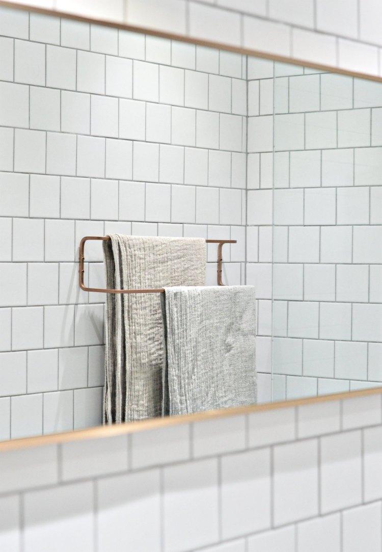 Ikea bathroom hack towel rail