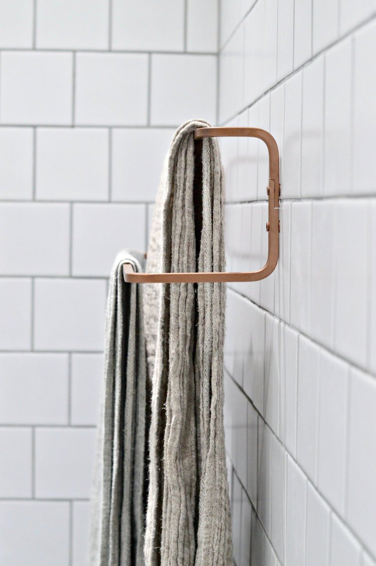 ikea bathroom hack towel rail