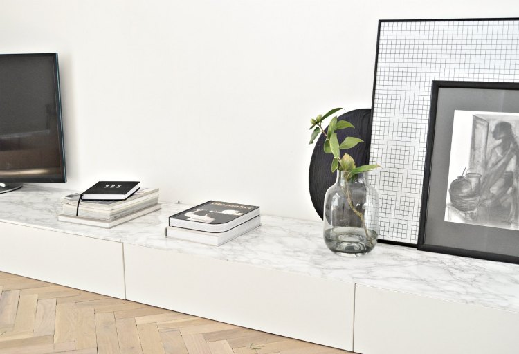 Ikea cabinet hack for living room