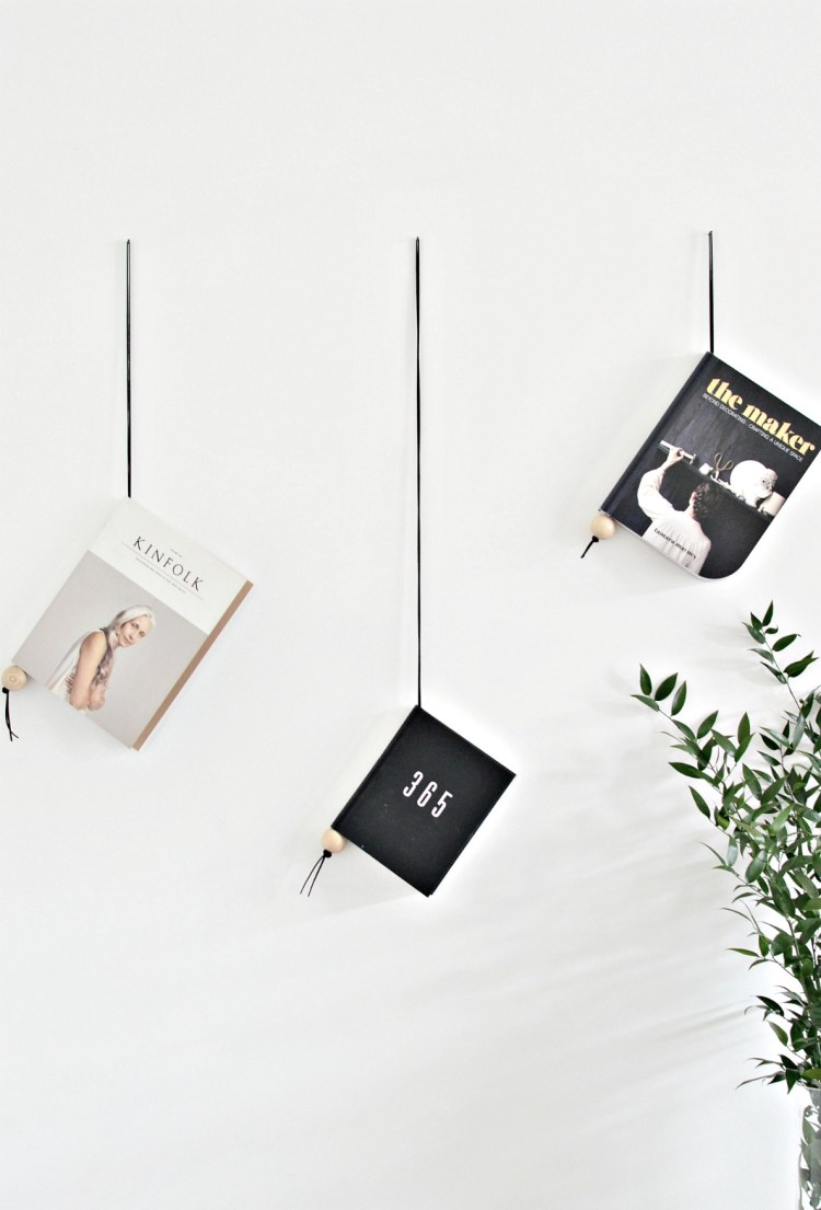 hanging magazine holder diy