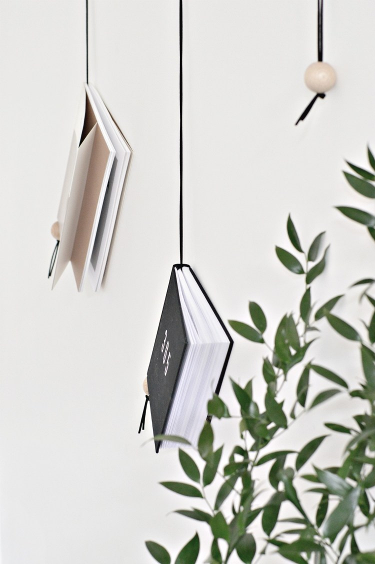 minimal hanging magazine holder diy