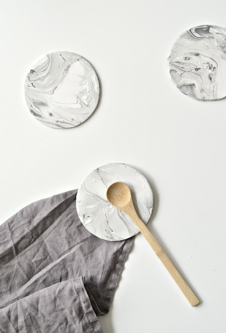 faux marble coasters