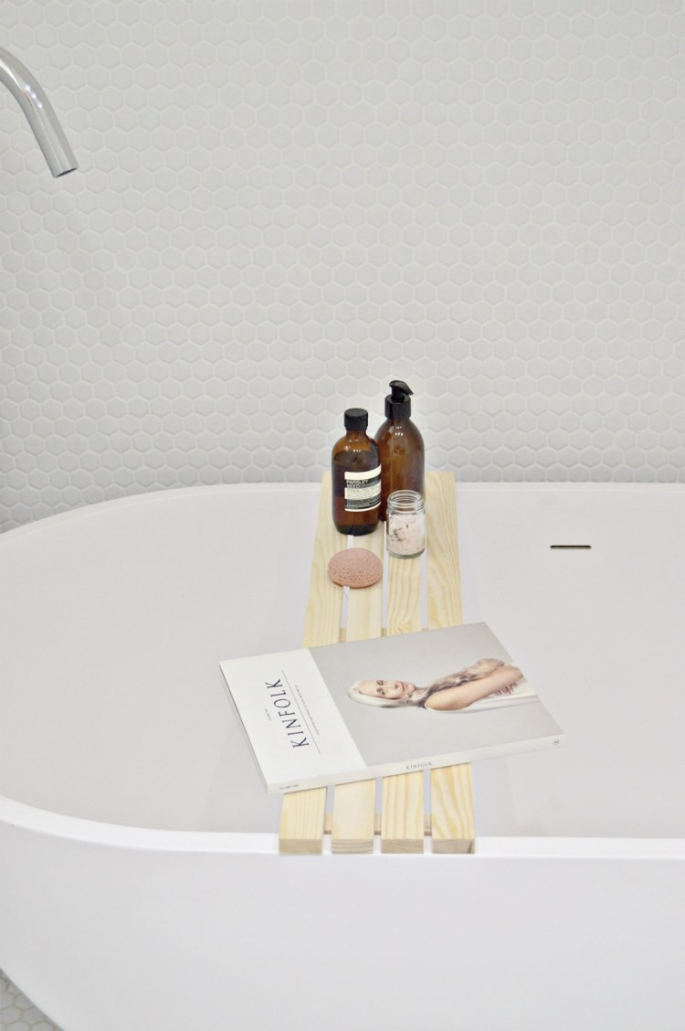 make this easy diy wooden bath tray - your diy family