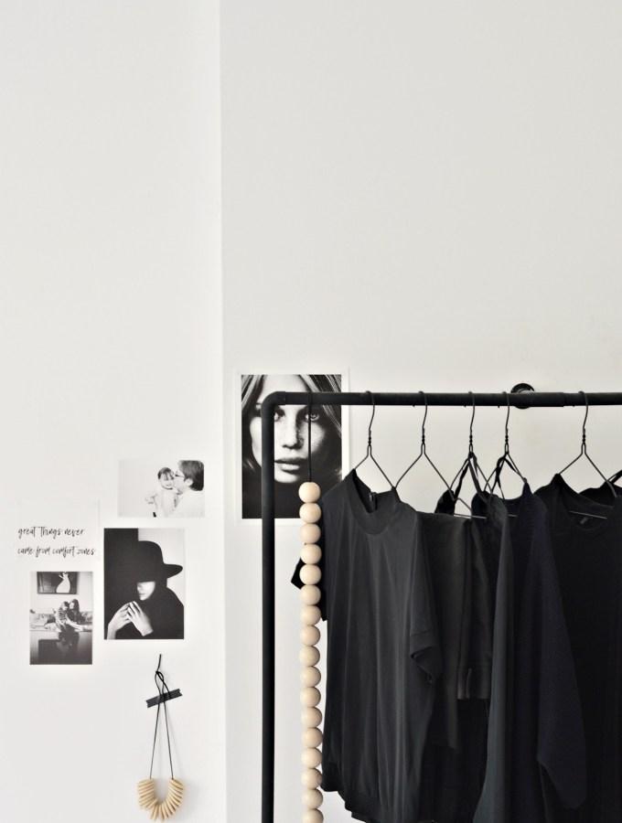 Minimal DIY clothes racks for a tidier bedroom
