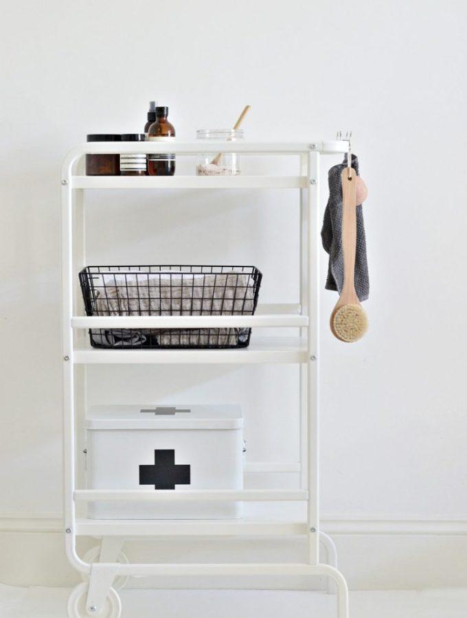 Cart it: A small bathroom storage idea for under £20