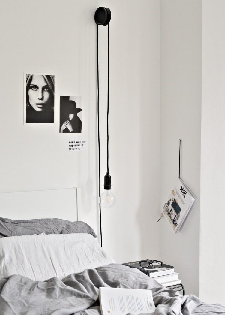 diy hanging bedside lamps