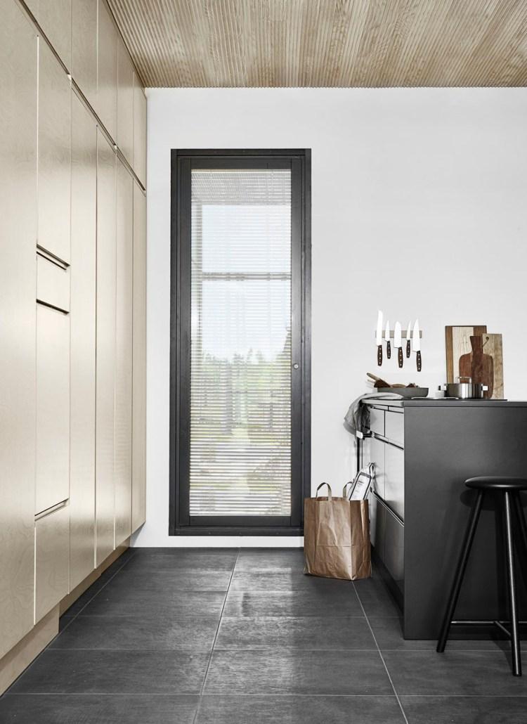 dark kitchen cabinets and wood combo