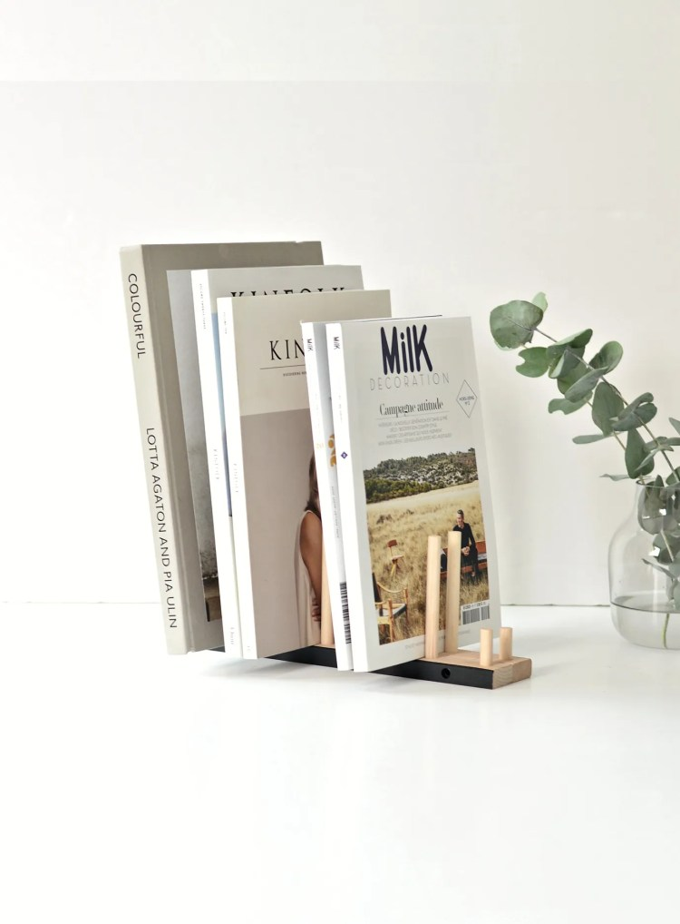 ikea hack magazine holder